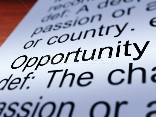 Gelegenheit Bestimmung Zufall Möglichkeit Stock foto © stuartmiles