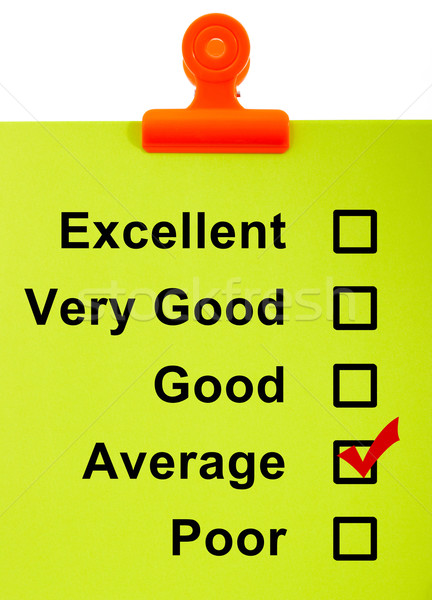 Moyenne enquête entraîner presse-papiers vérifier satisfaction Photo stock © stuartmiles