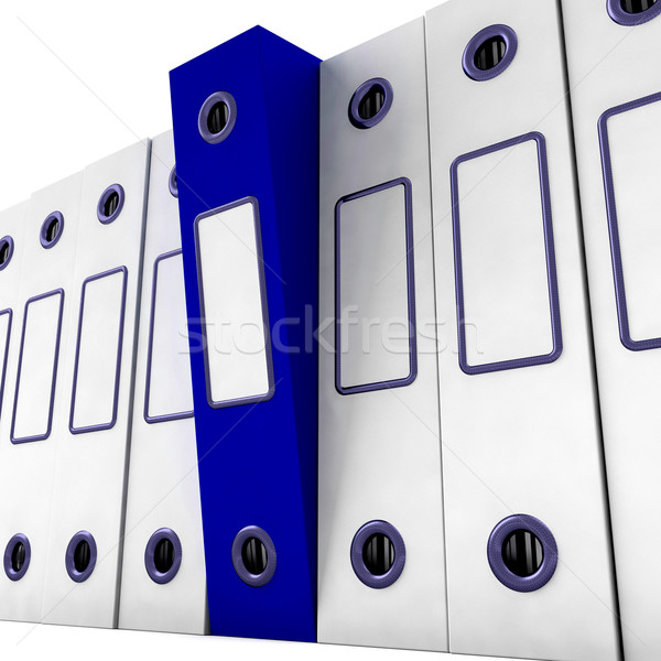 Blue File Amongst White For Getting Organized Stock photo © stuartmiles
