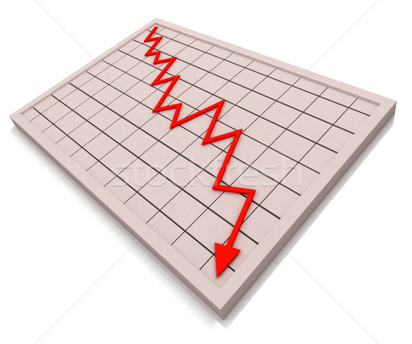 Red Graph Shows Profit Crisis Stock photo © stuartmiles
