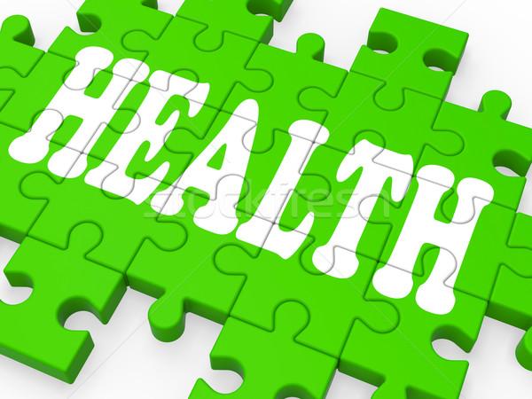 Health Puzzle Shows Medical Care Stock photo © stuartmiles