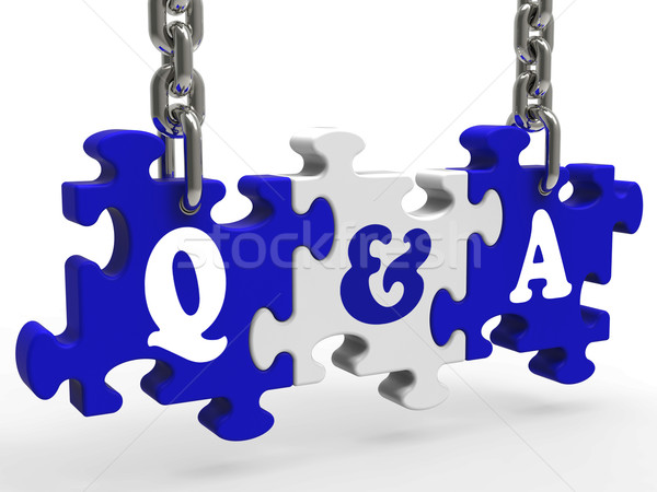 Stock fotó: Kérdések · válaszok · jelentés · megbeszélés · párbeszéd · ötlet