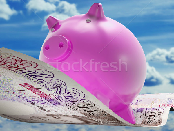 Pounds Note Pig Shows Prosperity And Investment Stock photo © stuartmiles