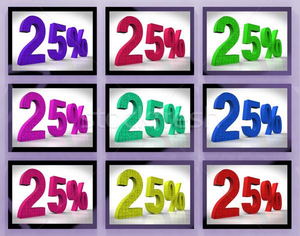 На 25 специальный продажи Cut телевизор скидка Сток-фото © stuartmiles
