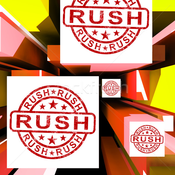 Rush On Cubes Showing Express Delivery Stock photo © stuartmiles