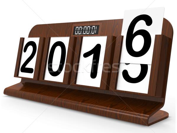 Desk calendario anno due migliaia sedici anni Foto d'archivio © stuartmiles