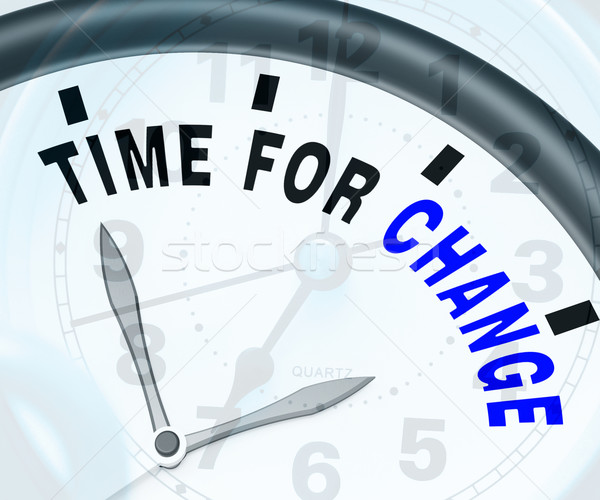 Time For Change Means Different Strategy Or Vary Stock photo © stuartmiles