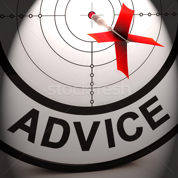 Advice Means Informed Help Assistance And Support Stock photo © stuartmiles