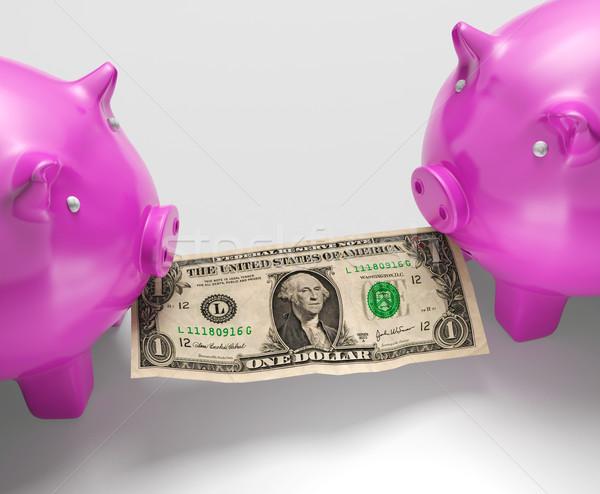 еды деньги денежный Финансы свинья Сток-фото © stuartmiles