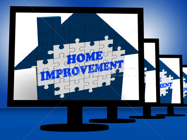 Home Improvement On Monitors Shows Home Design Shows Stock photo © stuartmiles