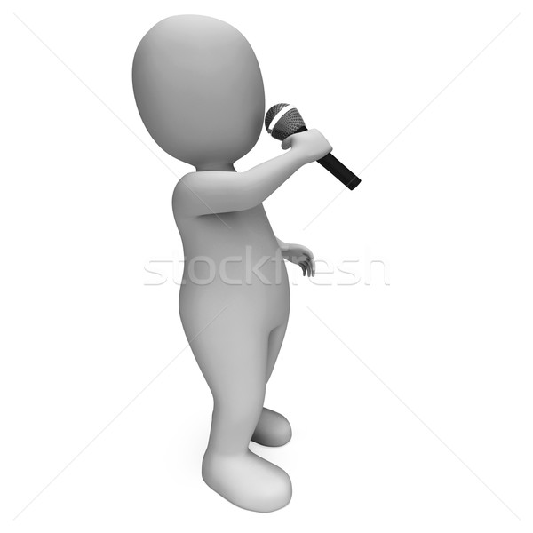 Singer Shows Music Song Or Karaoke Talent Concert Stock photo © stuartmiles