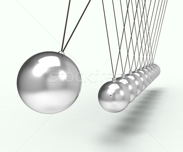 Newton Cradle Shows Energy And Gravity Stock photo © stuartmiles