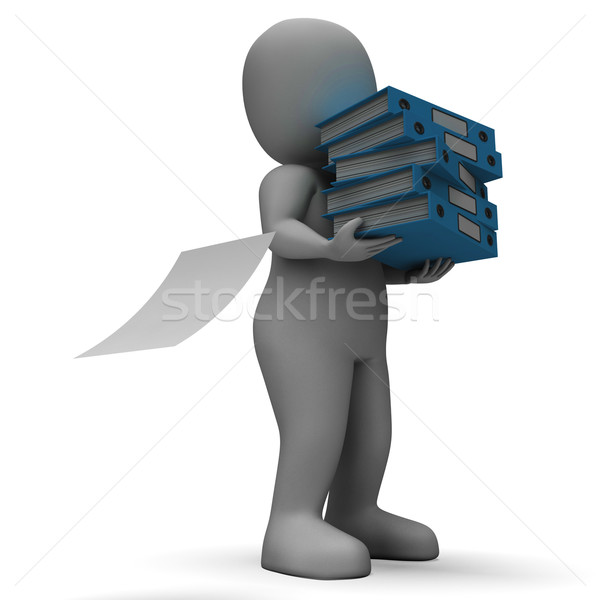 Organizing Clerk Carrying Organized Files Stock photo © stuartmiles