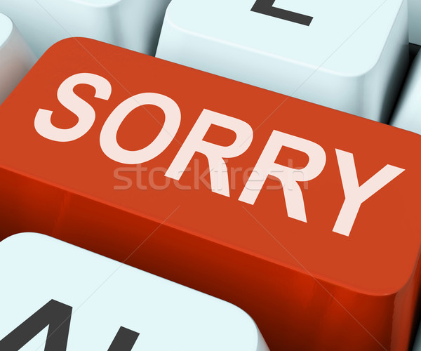 Sorry Key Shows Online Apology Or Regret Stock photo © stuartmiles