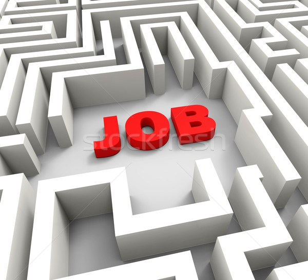 Job In Maze Showing Finding Jobs Stock photo © stuartmiles