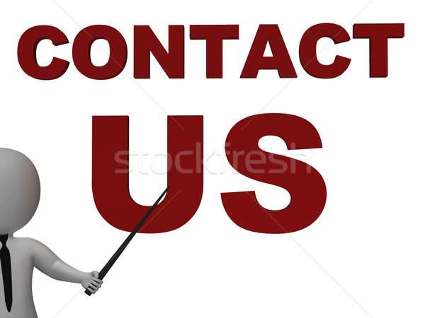 Contact Us Sign Meaning Helpdesk Stock photo © stuartmiles
