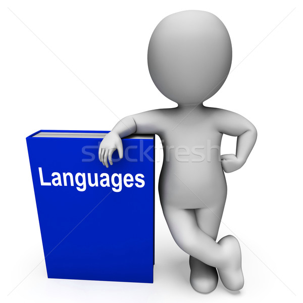Languages Book And Character Shows Books About Language Stock photo © stuartmiles