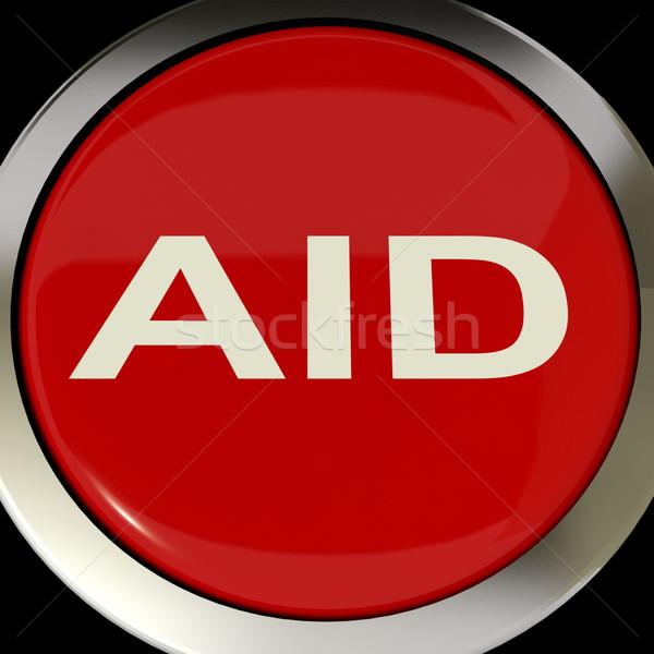 Steun knop helpen redding betekenis computer Stockfoto © stuartmiles