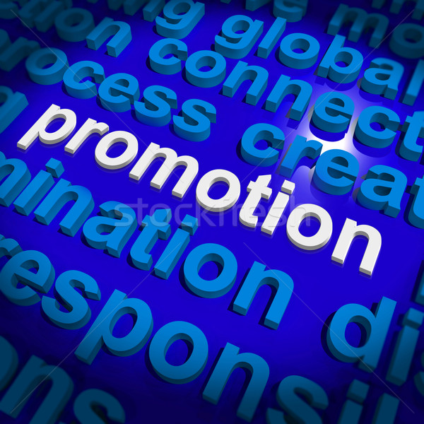 Promotion Word Cloud  Shows Discount Bargain Or Mark down Stock photo © stuartmiles