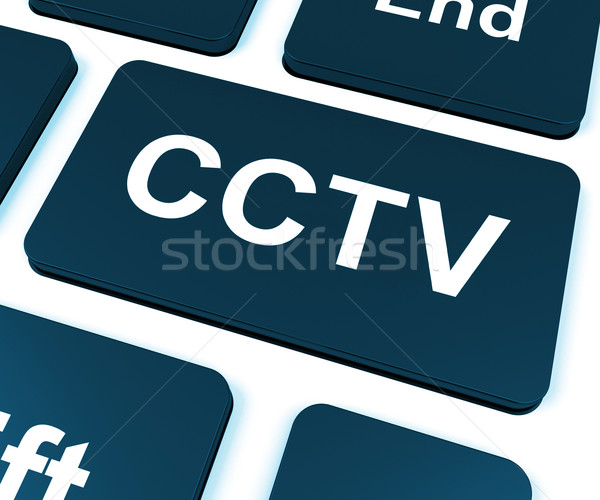 CCTV Key Shows Camera Monitoring Or Online Surveillance Stock photo © stuartmiles