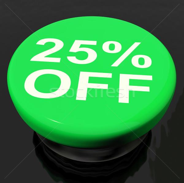 Veinte cinco por ciento botón venta descuento Foto stock © stuartmiles