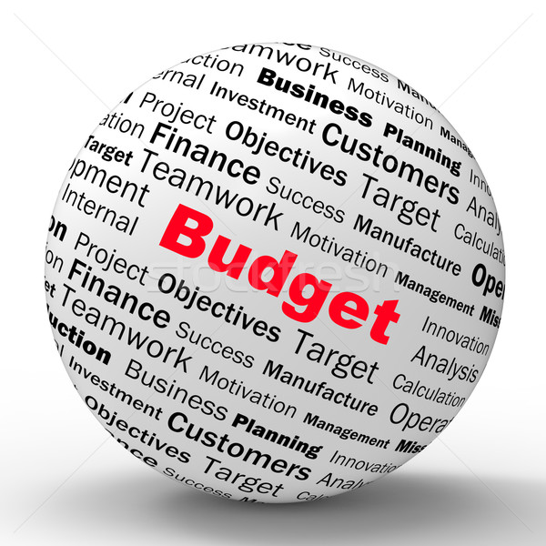 Budget Sphere Definition Shows Financial Management Or business  Stock photo © stuartmiles