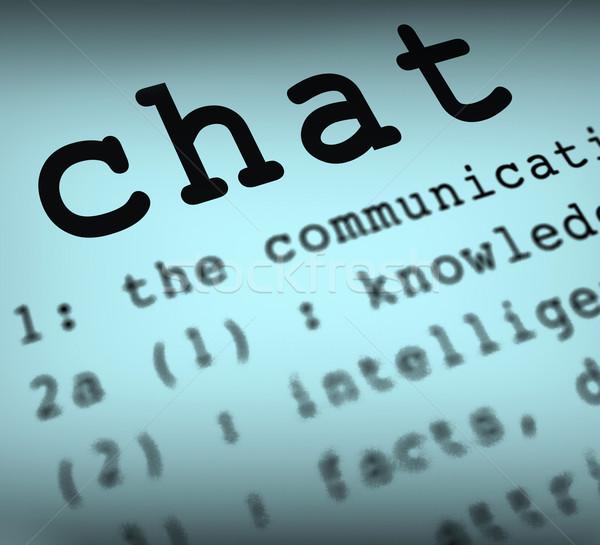 Chat definitie online communicatie tekst praten Stockfoto © stuartmiles