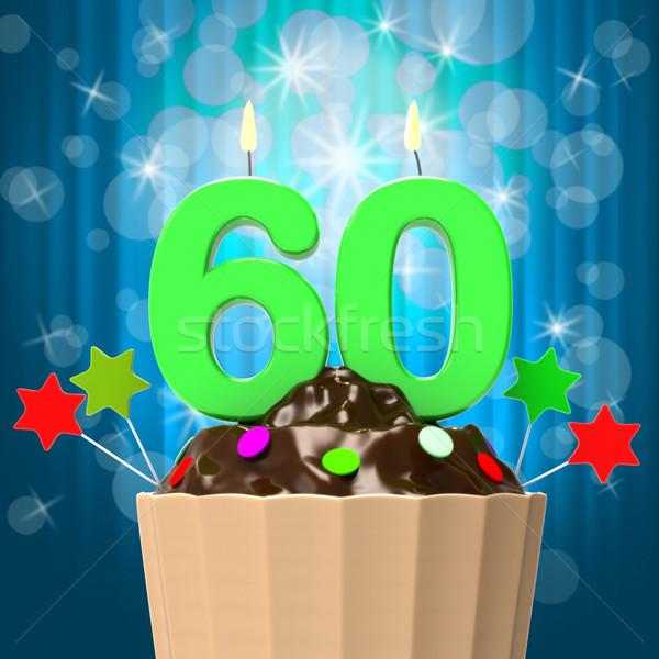 Sessanta candela compleanno anniversario significato Foto d'archivio © stuartmiles