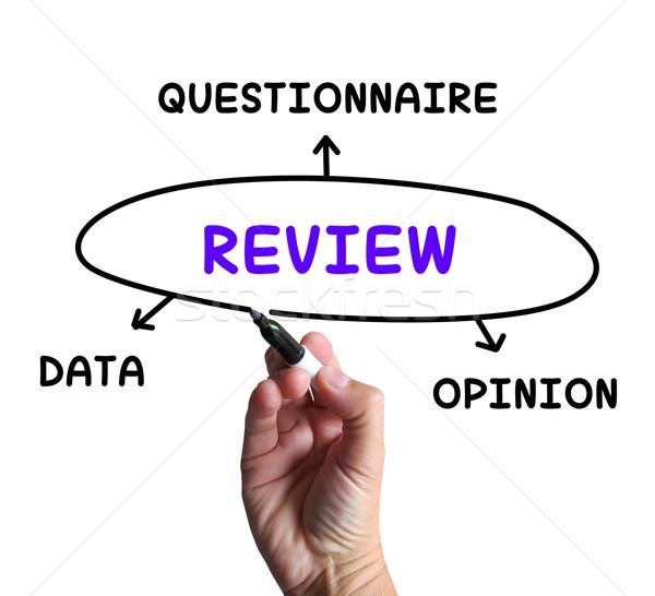 Diagrama dados questionário opinião juiz Foto stock © stuartmiles