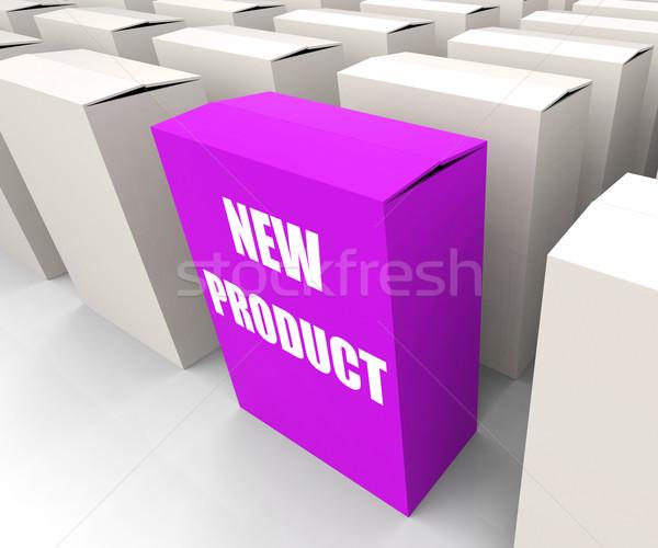 New Product Box Indicates Newness and Advertisement Stock photo © stuartmiles