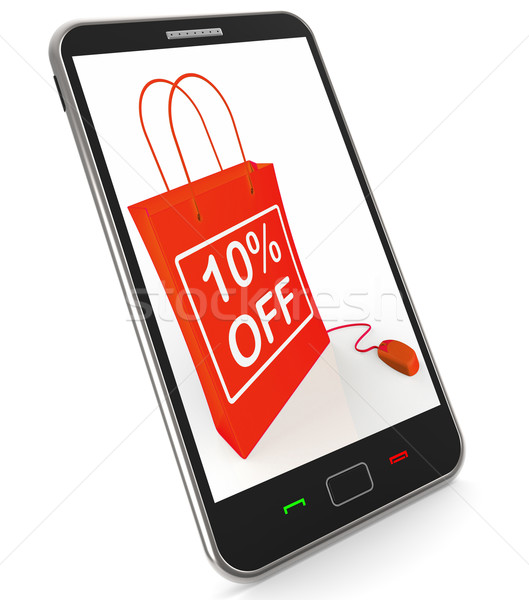 Ten Percent Off Phone Shows Online Sales and Discounts Stock photo © stuartmiles