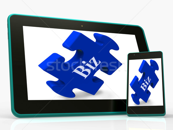 Biz Smartphone Shows Online Business Or Company Stock photo © stuartmiles