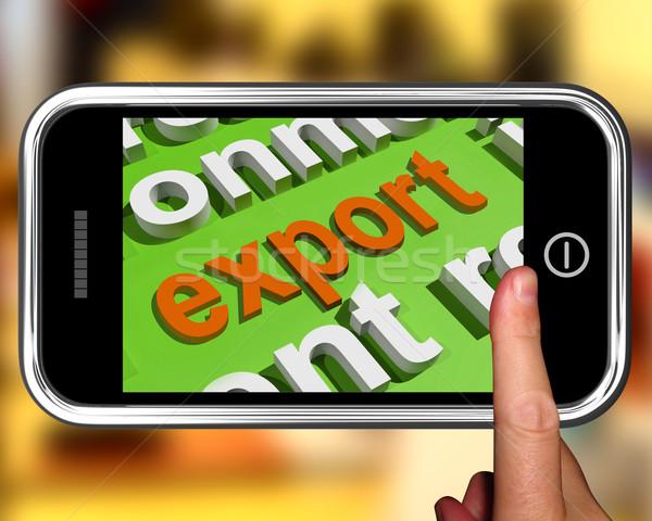 Exportar nuvem da palavra vender comércio chave significado Foto stock © stuartmiles