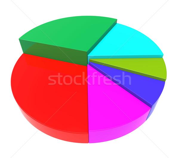 Kördiagram pénzügyi beszámoló adat üzleti grafikon irat pénzügy Stock fotó © stuartmiles