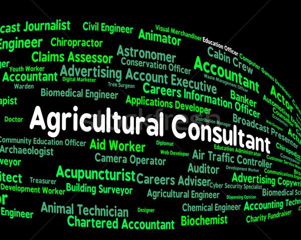 Rolniczy konsultant pozycja gospodarstwa pracy Zdjęcia stock © stuartmiles