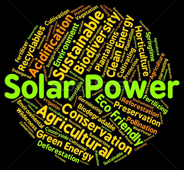 Solar Power Represents Alternative Energy And Sun Stock photo © stuartmiles