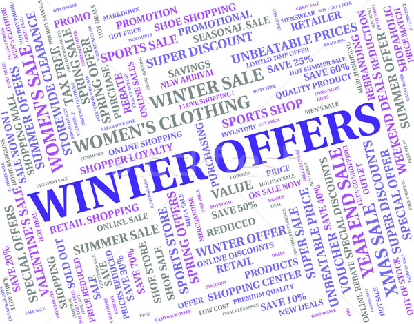 Winter Offers Represents Save Clearance And Discounts Stock photo © stuartmiles