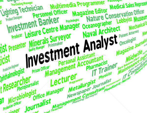 Investment Analyst Means Analysts Analyse And Analytic Stock photo © stuartmiles