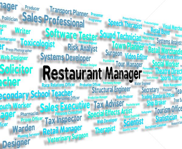 étterem menedzser főnök menedzserek mutat birtokos Stock fotó © stuartmiles