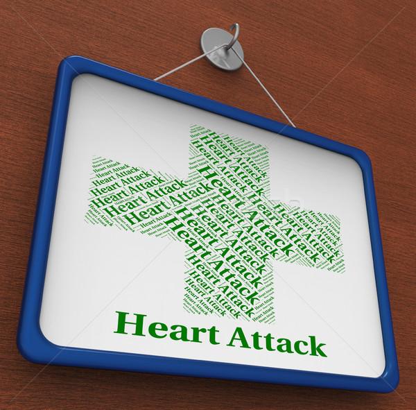 Crise cardiaque coeur coeurs maladie maladie Photo stock © stuartmiles