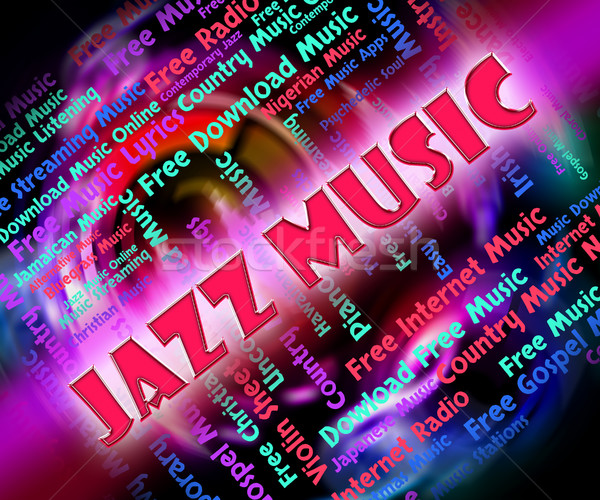 Jazz Music Represents Sound Track And Concert Stock photo © stuartmiles