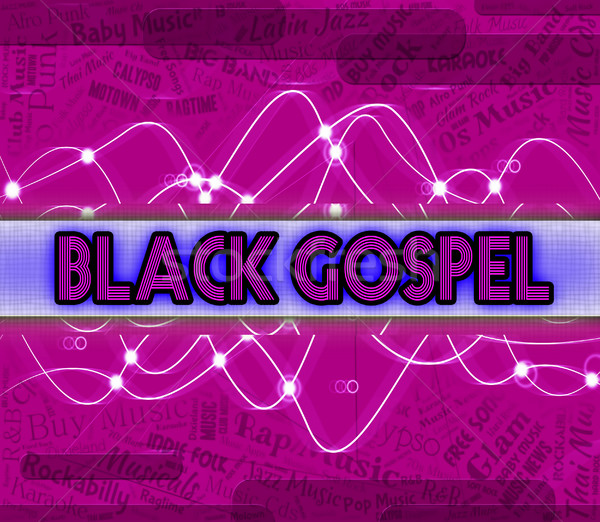 Black Gospel Represents Sound Tracks And Acoustic Stock photo © stuartmiles