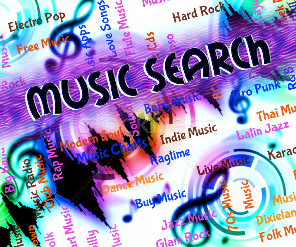 Music Search Shows Sound Track And Acoustic Stock photo © stuartmiles