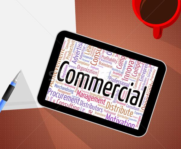 Kereskedelmi szó elad szófelhő export jelentés Stock fotó © stuartmiles