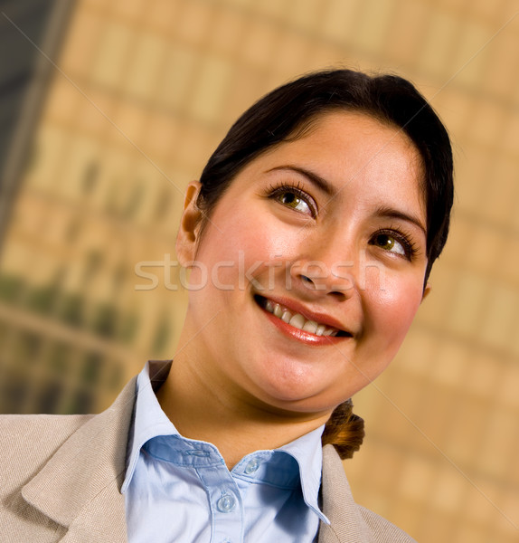 Business Woman Standing Outsite Her Company Headquarters Stock photo © stuartmiles