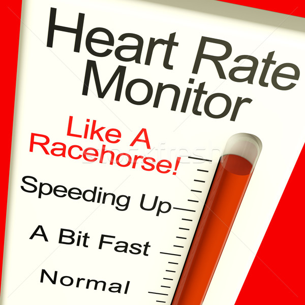 Stock photo: Heart Rate Monitor Very Fast Showing Quick Beats