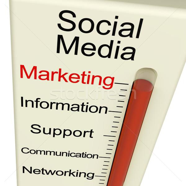 Stok fotoğraf: Sosyal · medya · pazarlama · bilgi · destek · izlemek · iletişim