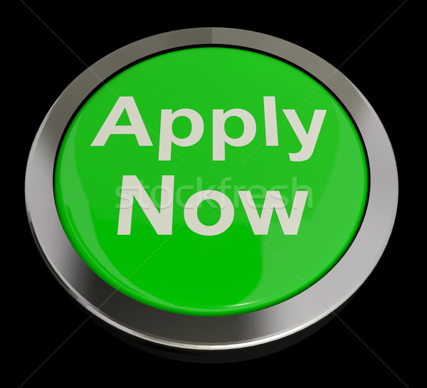 Apply Now Button In Green For Work Application Stock photo © stuartmiles