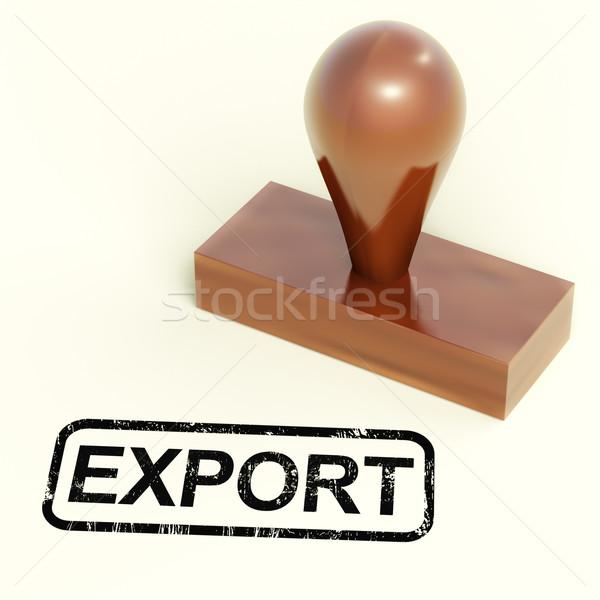 Stockfoto: Exporteren · stempel · tonen · globale · distributie · producten