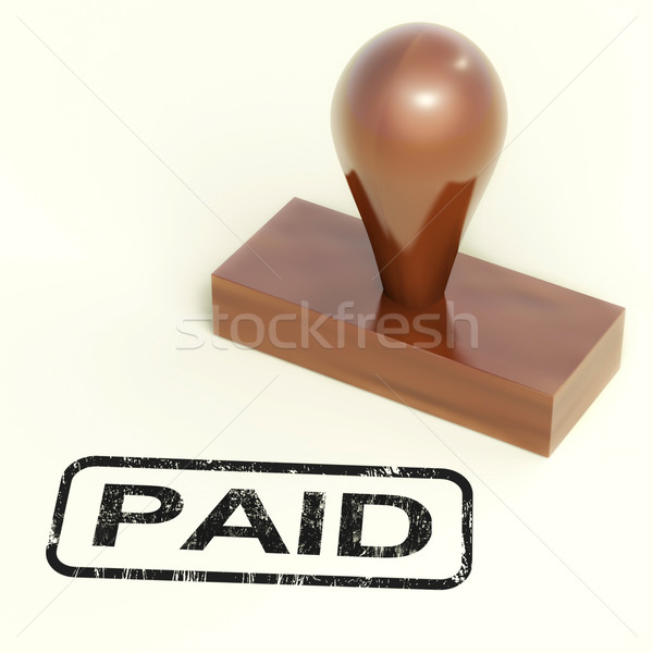 Paid Rubber Stamp Shows Payment Confirmation Stock photo © stuartmiles